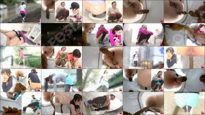 FF-360 [#1] | Beautiful romance of girls-joggers pooping in public toilets.