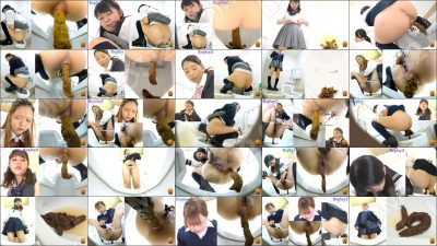 EE-314 [#1] | Embarrassing moments of girls school students gloomy excretions on Japanese style toilet. VOL. 2