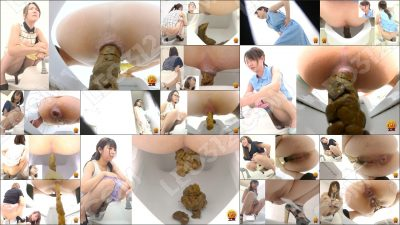 EE-332 [#1] | Peeping on admirable excretions. Hidden toilet footage with farts, female excrements and hot pee streams. VOL. 3